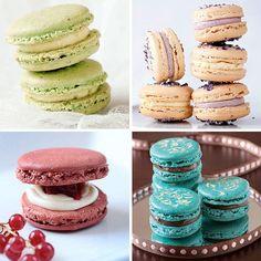 Macarons, unos pastelitos franceses muy coloridos