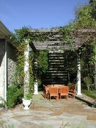 italian landscape design - Outside room using pergola.