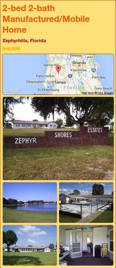 2 Bed 2 Bath Manufactured Mobile Home In Zephyrhills Florida