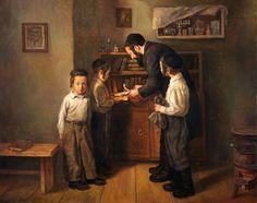 Boris Dubrov (Russian/Israeli, born 1979)  'Preparing for Passover holiday'