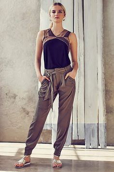 Button-Cuff Joggers - #anthroregistry