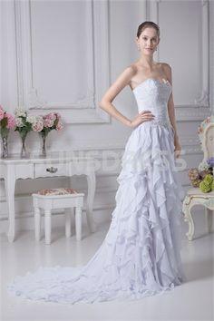 Garden A-Line Sweetheart Court Train Wedding Dress 005