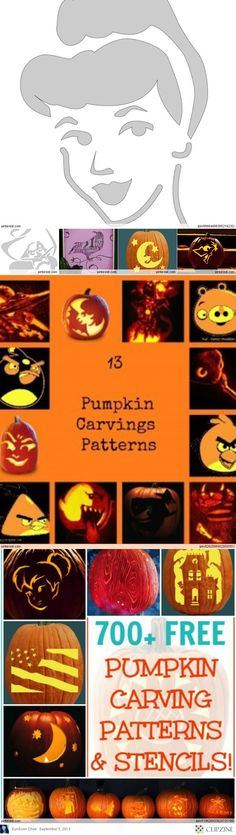 Pumpkin Carving Patterns...doing this for Mackenzie!!