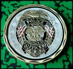 Saint Michael Police Law Enforcement Colorized Challenge Art