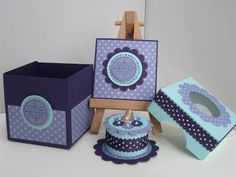 Birthday in a Box - included in the box is a card and battery operated tealight cake - bjl