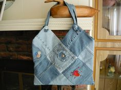 Recycled Jeans Bag. $25.00, via Etsy.