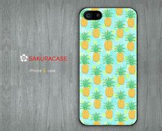 Polka Dots and Pineapples iPhone 5 case Pineapple iPhone 5 case iPhone 5 5s Hard/Rubber Case-Choose Your Favourite Color by sakuracase, $6.99