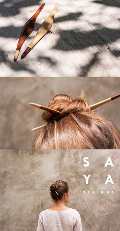 The Double Pandan hair stick set from SAYA Designs