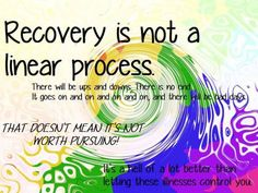 Recovery is not a linear process; ups and downs are completely normal!