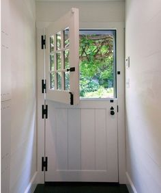 Depiction of Dutch Door Hardware: Welcoming on the one Hand, Protecting on the Other