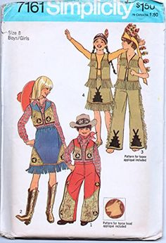 vintage costume pattern---cowboys and indians Vintage Halloween, Fall Halloween, Happy Halloween, Vintage Costumes, Vintage Outfits, Vintage Clothing, Vintage Fashion, Indian Costumes, Kids Dress Up