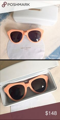 """Karen Walker Sunglasses Very cute Karen Walker """"Number One"""" sunnies. They add a fun pop of color! Only worn a couple of times. Still has original case and cloth. Accessories Sunglasses"""