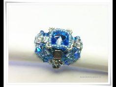 Turorial perline Anello Zaffiro con perline | diy How to make a ring! craft |BIB - YouTube