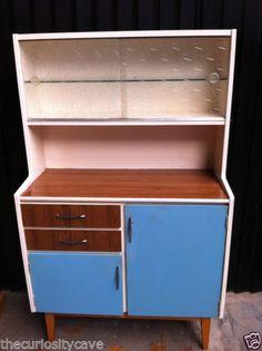 Vintage 1960s Retro Kitchen Formica Baby Blue Kitchen Larder Cupboard / Cabinet | eBay
