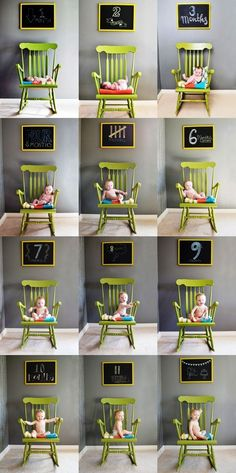 Clever child growth chart in photos Toni Kami ~•❤• Bébé •❤•~