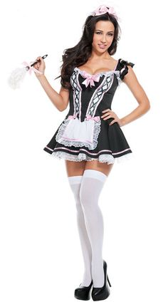 Sexy Overbust Pattern Cosplay French Maid Deguisement Adultes Festif Halloween Lolita Fancy Dirndl    #Affiliate