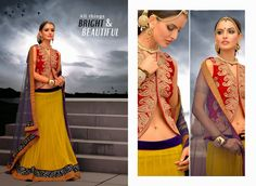 Marvelous Yellow Net Wedding Lehnga Choli   http://www.designersareesuite.com/catalog/product/view/id/20382/s/marvelous-yellow-net-wedding-lehnga-choli/category/54/#