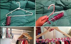 Cool idea. Dollar store shower curtain hooks.