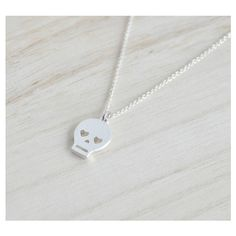 Silver Skull Necklace, Skeleton Necklace, Sugar Skull Necklace, Pirate... ($14) ❤ liked on Polyvore