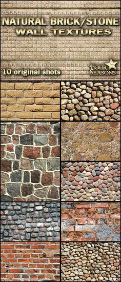 Natural brick/stone wall textures