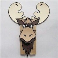 Moose Paper Bag Puppet Craft