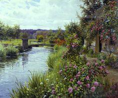 Louis Aston Knight (1873 - 1948) Flowers in Bloom