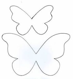 Resultado de imagem para molde convite borboleta