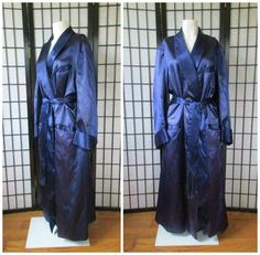 Vintage Satin Robe 1930s 1940s Royal Blue Mens by girlgal6 on Etsy