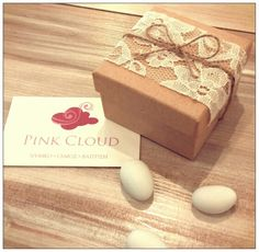 Κουτακι/δαντελα/σχοινι/pink_cloud Pink Clouds, Favors, Presents, Guest Gifts, Gifts, Little Gifts