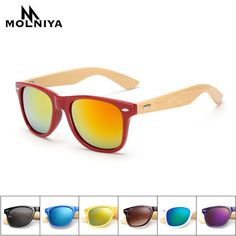 4e396e2e31c  FASHION  NEW MOLNIYA 2017 New Bamboo legs Sunglasses For Women Men Square  Sun Glasses