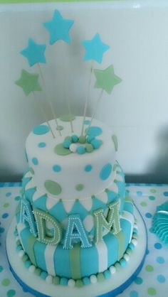 Baby boy first birthday cake