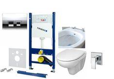 Miska WC z funkcją bidetu 2w1 Tek SL320 + stelaż podtynkowy Geberit kompletny zestaw gotowy do montażu Bathroom, Washroom, Bath Room, Bathrooms, Downstairs Bathroom, Full Bath, Bath, Bathtub, Toilet