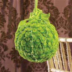 Green Pom Bridesmaid Pomander Bouquet $154.00 www.1800flowers4giftseattle.com