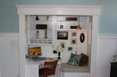 Smart Home Office - GENIUS!  We have a closet similar to this in our current office and doing this transformation would allow for a small guest or rec room.