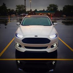 Rainy day in Michigan. Kinda like that reflection of the lights in the wet pavement  @fordsofinstagram @whoreyourford @TheLightingFirm @eatsleepfords @king_of_ford @MRRwheels  #3dCarbon #FordCulture #King_Of_Ford #FordsOfInstagram #EatSleepFord #TheLightingFirm #tlfnation #tlfcrew #HIDs #Fusion #Ford #FordMafia #WhiteFusion #Ecoboost #FordFusionTitanium #2GFusions #FusionNation #WhoreYourFord #MRR #MRRwheels #GF07 #Turbo #AWD #CarsOfInstagram #StormTrooper #Steeda #OfficialFordGang…