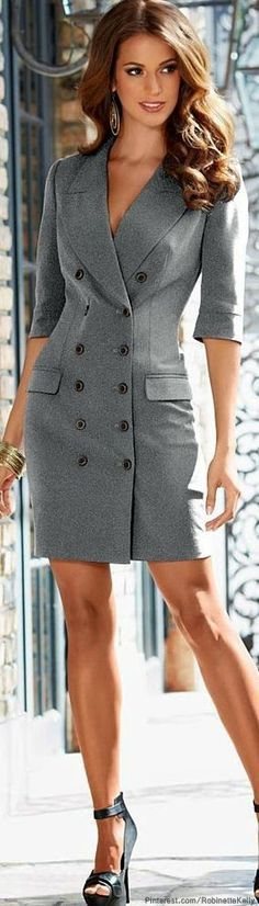 @roressclothes clothing ideas #women fashion gray business work office
