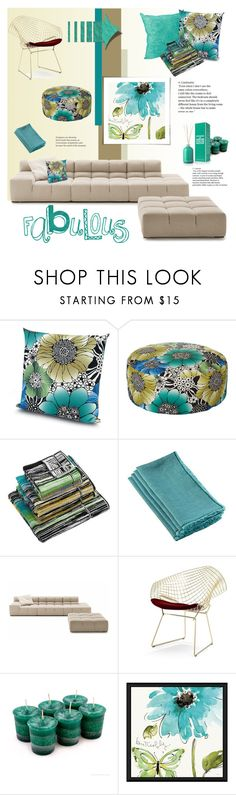 """""""fall flowers"""" by fl4u ❤ liked on Polyvore featuring interior, interiors, interior design, home, home decor, interior decorating, Missoni Home, Knoll, Green Leaf Art and La Compagnie de Provence"""