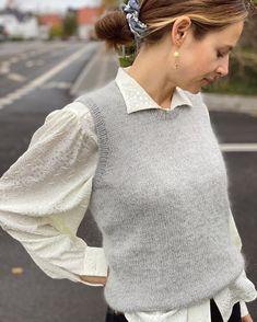Ravelry: Stockholm Slipover pattern by PetiteKnit Sweater Vest Outfit, Vest Outfits, Cute Outfits, Raglan Pullover, Knit Vest Pattern, Jumpsuit Pattern, Stockinette, Western Outfits, Tweed