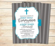 First Communion Invitation 1st Holy by LittleBeesGraphics on Etsy