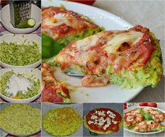 Zucchini cake/pizza with tomato and mozzarella! Italian Recipes, Vegan Recipes, My Favorite Food, Favorite Recipes, Mozzarella, Antipasto, Fresh Rolls, Vegan Vegetarian, Food And Drink