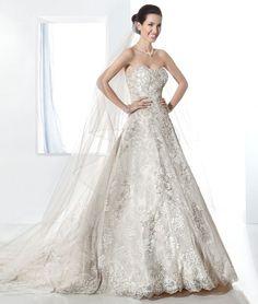 2fba4b3376ea Demetrios - dress  1473 - Beaded Chantilly Lace