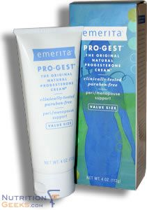 Emerita created Pro Gest to give women the only progesterone cream that`s been clinically tested. It`s the best selling progesterone cream available anywhere (and has been for many years). And now it`s paraben free.