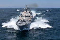 The future USS Detroit (LCS 7) conducts acceptance trials on July 14, 2016. Lockheed Martin Photo