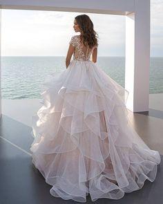 27 Stunning Trend: Tattoo Effect Wedding Dresses ❤ tattoo effect wedding dresses ball gown with cap sleeves lace back perfioni #weddingforward #wedding #bride