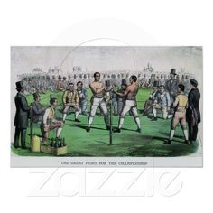 Vintage Boxing; Great Fight for the Championship Posters at Zazzle.ca