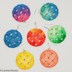 It would be fun to try to weave polymer clay strips like this and make jewelry or other fun things!!!