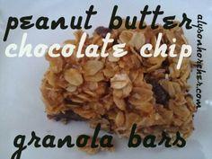 alysonhorcher.blogspot.com: Peanut Butter Chocolate Chip Granola Bars