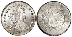 The advantage of buying a Flowing Hair dollar coin online is it's convenient. You don't need to leave home to buy a Flowing Hair Silver dollar and you can do research on 1795 Flowing Hair Silver dollar coins to be sure you're buying the real thing.