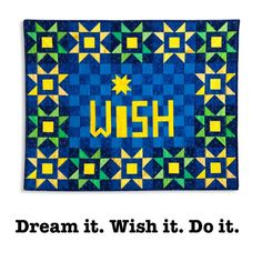 Wishful thinking is great in that it allows you to define a goal. Then you have to go out there and make it happen! Wishful Thinking, My Etsy Shop, Kids Rugs, Shit Happens, Quilts, Words, Goal, How To Make, Shopping