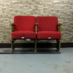 Vintage Cinema Seats from Reclaimed Retro